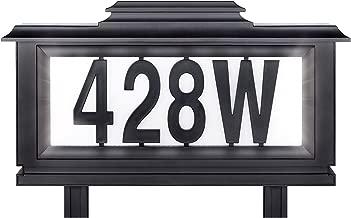 The Black Series Solar-powered Lighted Address Stake (Basic pack)