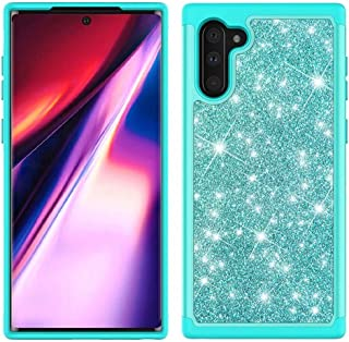 Lijc Samsung Galaxy Note 10 Fodral [Skärm Skydd] Glitter Anti-Drop Stötsäker Omslag Hård PC + Flexibel TPU Silikon 2 i 1 G...