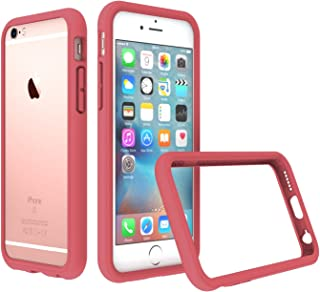 RhinoShield Bumper Case for iPhone 6 / iPhone 6S [NOT Plus] | [CrashGuard] | Shock Absorbent Slim Design Protective Cover [3.5 M / 11ft Drop Protection] - Coral Pink