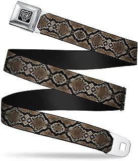 Buckle-Down Seatbelt Belt - Snake Skin 1 - 1.5