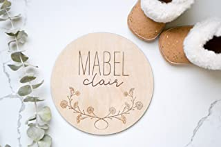 Birth Announcement Baby Name Sign Wood Sign Newborn Hospital Photo Prop Gender Reveal Baby Photo Props Name Announcement New Baby Sign