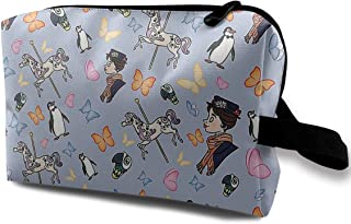 HHFASN Mary Poppins Pattern Durable Makeup Bag Pouch Purse Handbag Organizer Large Pencil Case Stationery Pouch