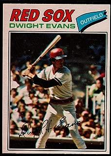 Baseball MLB 1977 O-Pee-Chee #259 Dwight Evans Red Sox