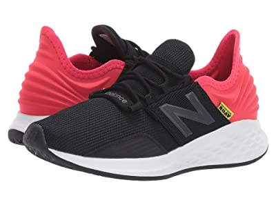 New Balance Kids Fresh Foam Roav (Little Kid) (Black/Energy Red) Boys Shoes