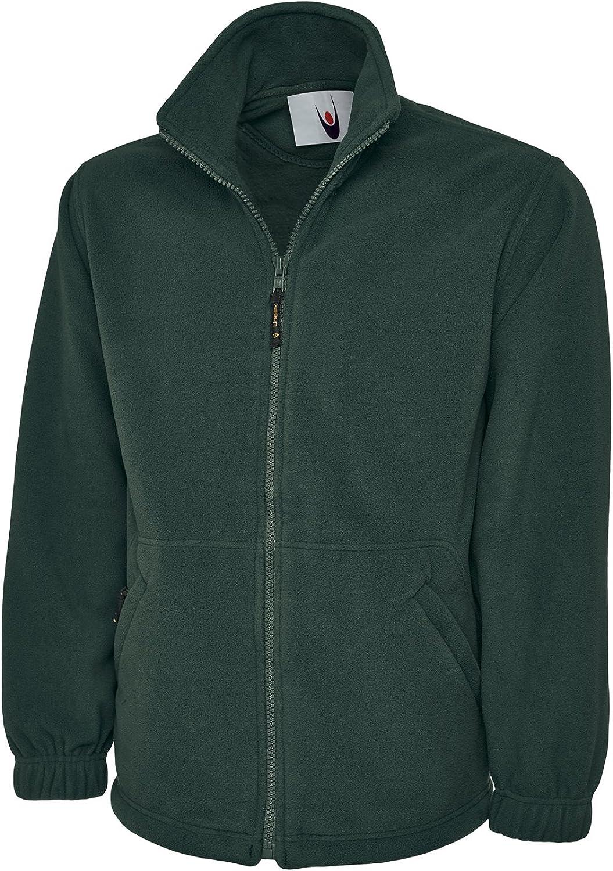 Uneek Clothing-mens-Classic Full Zip Micro Fleece Jacket-300 gsm-B/Green-S