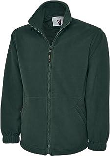 UC604 - Classic Full Zip Micro Fleece Jacket (300 GSM) - Bottle Green - Xtra Small