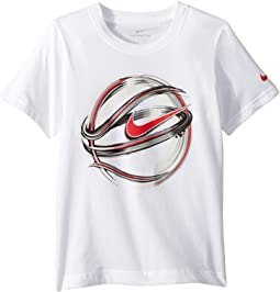 Nike Kids Brush Basketball Cotton Short Sleeve Tee (Little Kids)