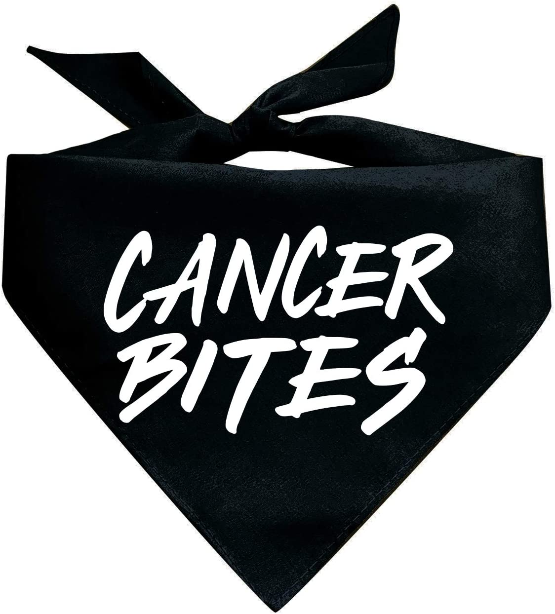 Cancer Bites Triangle Dog Colors Assorted OFFicial Bandana Direct stock discount