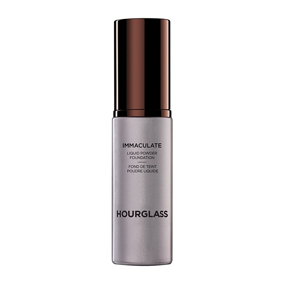 ペフ床言い直すHourglass Immaculate? Liquid Powder Foundation Mattifying Oil Free - Nude