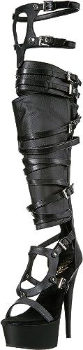 Pleaser DELIGHT-600-50 Blk Faux Leather Blk UK 2 (EU 35)