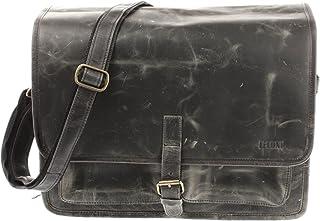 LECONI Businesstasche Unisex DIN A4 Messenger Bag Vintage-Look echt Leder Aktentasche große Collegetasche Damen & Herren Ledertasche 40x30x15cm LE3014