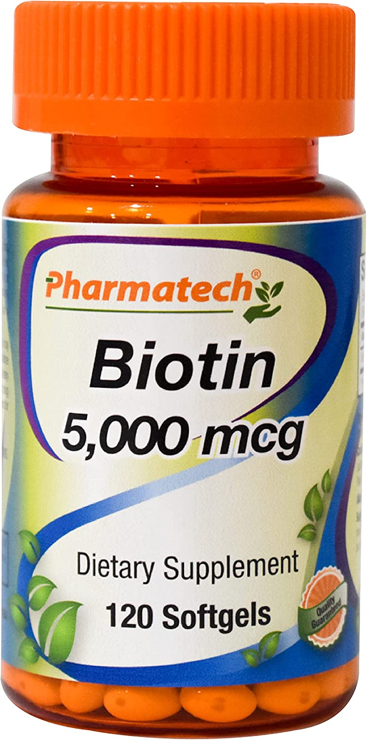 Pharmatech® Biotin 5000 mcg Ranking integrated 1st place - Hair Grow Vitamin All items in the store Healthier for