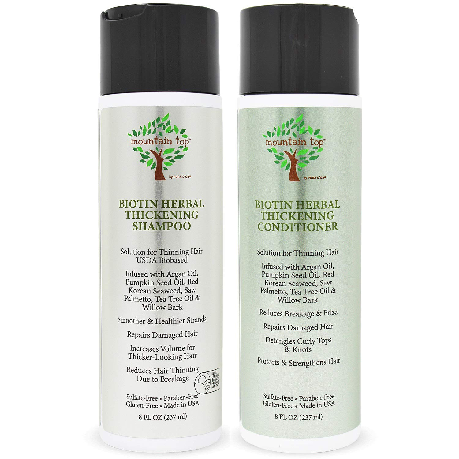 MOUNTAIN TOP Biotin Herbal Shampoo Set Thickening Conditioner New arrival Fashionable
