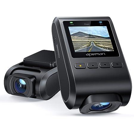 APEMAN ドライブレコーダー 在庫セール 小型 高画質 170度広角 ドラレコ 1080PフルHD 駐車監視 Gセンサー ループ録画 動体検知 上書き機能 高速起動 緊急録画 常時録画 LED信号機対策 電波障害対策 車載カメラ 防犯カメラ 日本語取扱説明書 18ヶ月安心保証