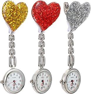Hemobllo 3 peças de relógios de bolso para pendurar, relógio de bolso para enfermagem, para mulheres, meninas, médico, enf...