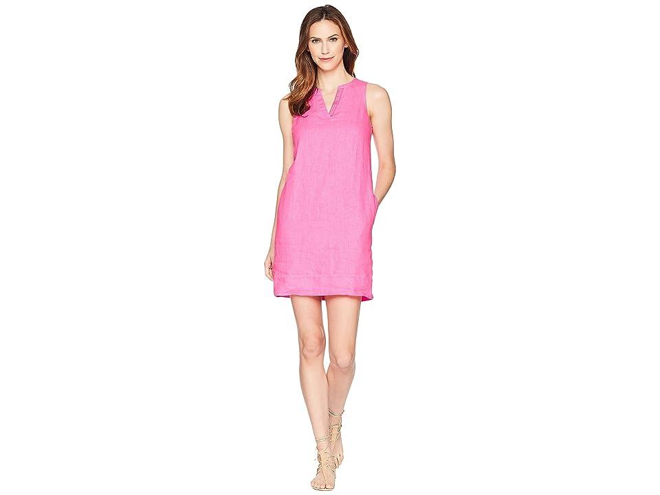 Tommy Bahama Seaglass Linen Shift Dress (Hot Pink) Women
