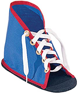 Children's Factory CF-361325-A1 Lacing Shoe with Sole, Blue/Red