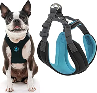 Gooby - Convertible Harness, Small Dog Step In Neoprene Harness with Easy Neck Fastener, Black, Large