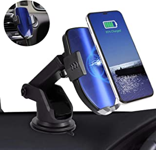 Qi Car Charger, Automatic Clamping Magnetic Phone Car Mount with Air Vent Phone Holder, 10W/7.5W for Samsung Galaxy S10/S9/S8/S7/S6 Edge/Note and iPhone Xs Max/XR/XS/X/8 Plus