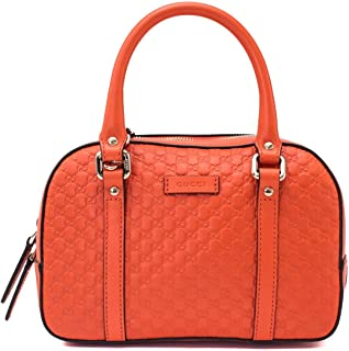 Gucci Micro Guccissima Soft Dollar Calf Maragaux Sun Orange Zip Top Rectangle Bag 510289