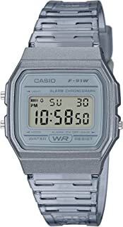 Casio Digital Unisex Resin F-91WS-8DF