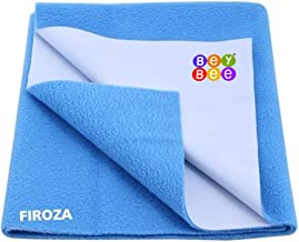 Bey Bee - Quick Dry Baby Bed Protector Waterproof Sheet Reusable Underpads Crib Sheet Cot Mat Bassinet Bedding (Firoza) {Small} {70Cm X 50Cm}