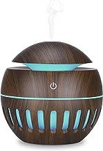 Luz noturna, Andoer Umidificador de ar USB difusor de óleo Cool Mist Maker madeira que muda de cor LEDs Luz noturna Terapi...