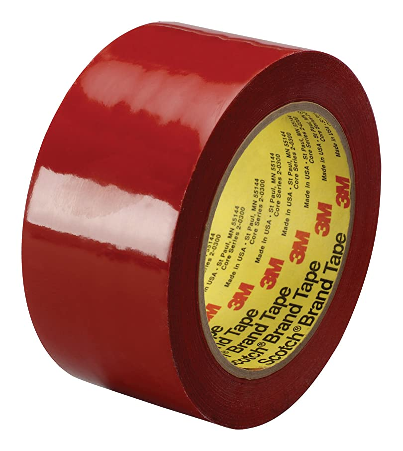 3M Polyethylene Film Tape 483 Red, 2 in x 36 yd 5.3 mil, Conveniently Packaged (Pack of 1)