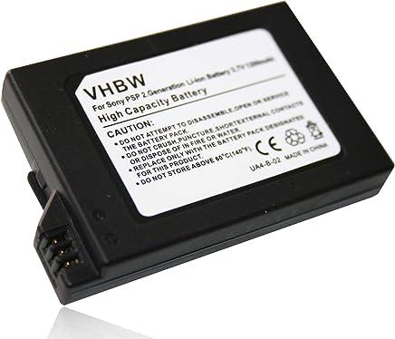 vhbw Akku passend für Sony Playstation Portable 2 Generation Slim & Lite PSP-2000 PSP-2004, Brite PSP-3000 PSP-3004 wie PSP-S110 (Li-Ion 1200mAh 3.6V)