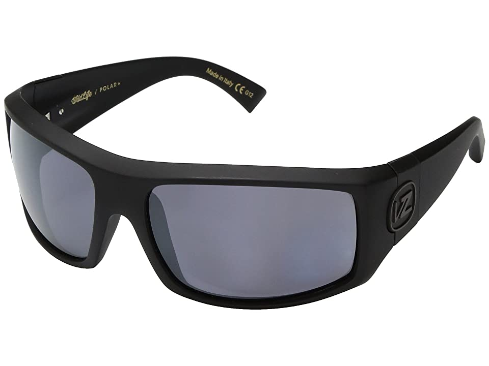 VonZipper Clutch Polar (Black Satin/Wild Silver Flash Polar Plus) Sport Sunglasses
