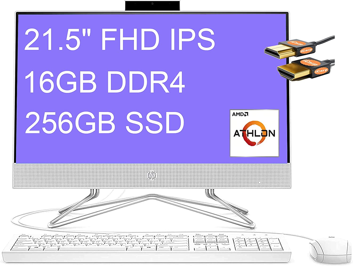 HP 22 All in One Flagship Desktop Disp IPS National products Computer 21.5