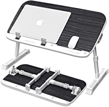 AboveTEK Portable Laptop Desk- Foldable Tray Table for Reading Writing Watching Videos on Bed Couch Sofa Floor, Height Adj...