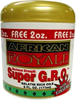 African Royale Super Gro Gelatin Rich Oil, 6 oz (Pack of 2)