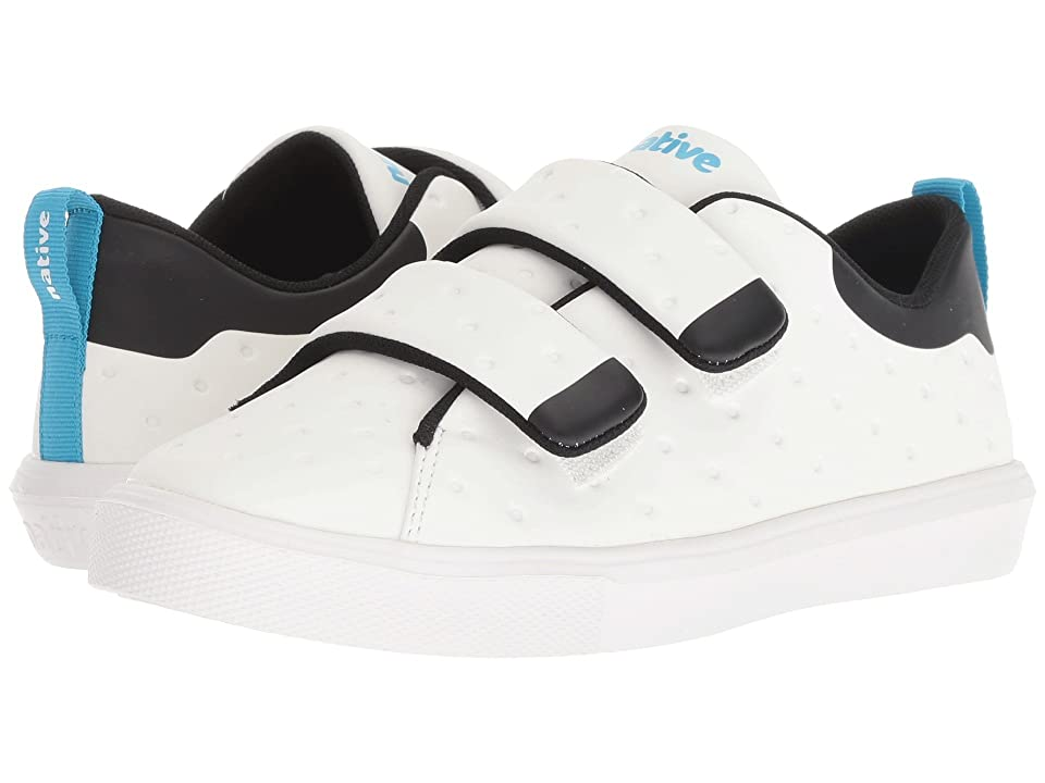 Native Kids Shoes Monaco HL CT (Little Kid) (Shell White Coated/Jiffy Black/Shell White) Kids Shoes
