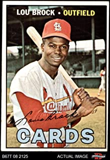 1967 Topps # 285 Lou Brock St. Louis Cardinals (Baseball Card) Dean`s Cards 3 - VG Cardinals