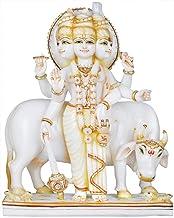 Shri Dattatreya - White Marble Statue