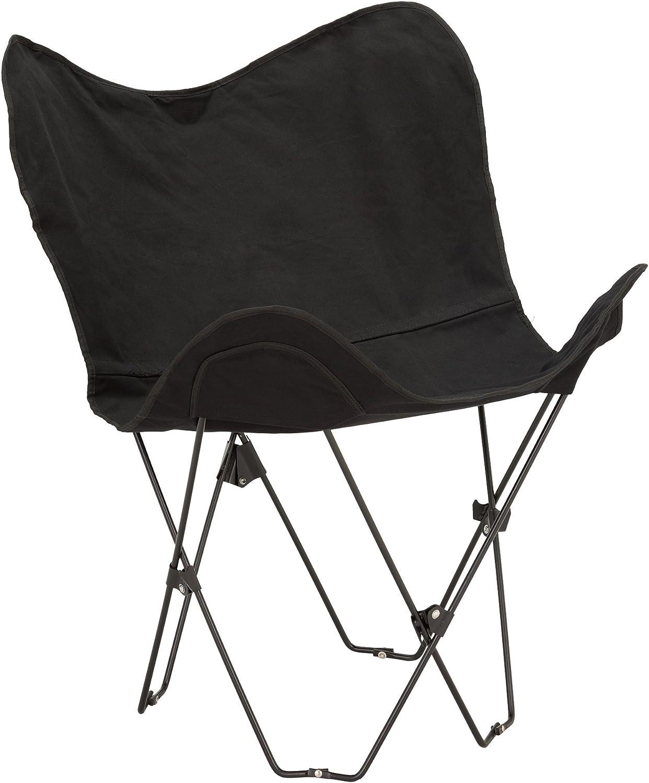 Fat Catalog Metal Butterfly Chair, Black, ALT-OUG1002BK-SO