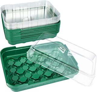 Seed Starting Kit for 36mm Peat Pellets(not Included), 10-Pack Sturdy Greenhouse Tray with Dome Seed Starter Indoor Garden...