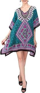 فستان Miss Lavish London قفطان - Caftans للنساء - يتوفر قفطان نسائي بمقاس واحد يناسب مقاس 4 و6 و8 و10 أمريكي