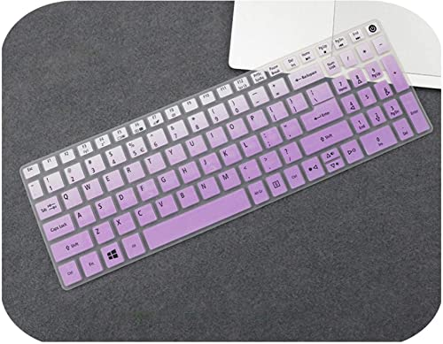Tastaturschutz aus Silikon fur Acer Aspire 5 A515 A515 15 A515 15 A515 15G E5 523G E5 576G E5 523G 575G 576G Gradualpurple