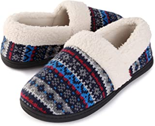 Image of Comfy Nordic Knit House Slippers for Women
