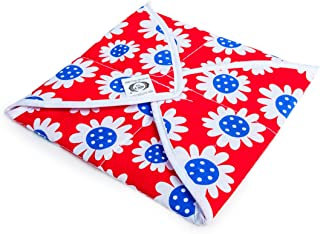 HealthAndYoga Roti, Tortilla and Breads Covering Cloth - Square Shape Cotton Cloth - Cotton Wrapping Cover