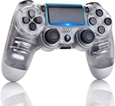 Best PS4 Controller 2020 Style Dual Shock High Performance Gaming Controller for Playstation 4 /Pro/Slim/PC with Audio Function,6-axis Gyro Sensor, USB Cable,Touch Pad(Transparent White) Review