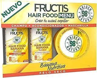 Garnier Fructis Cofre Hair Food Banana Nutritiva para Pelo Seco - Crea tu menú capilar compuesto por champú acondicionado...
