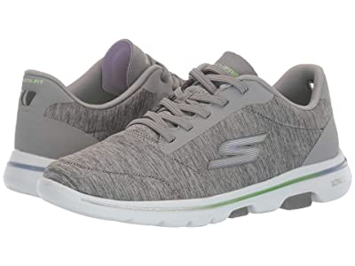 SKECHERS Performance Go Walk 5 Prodigy (Gray/Lavender) Women