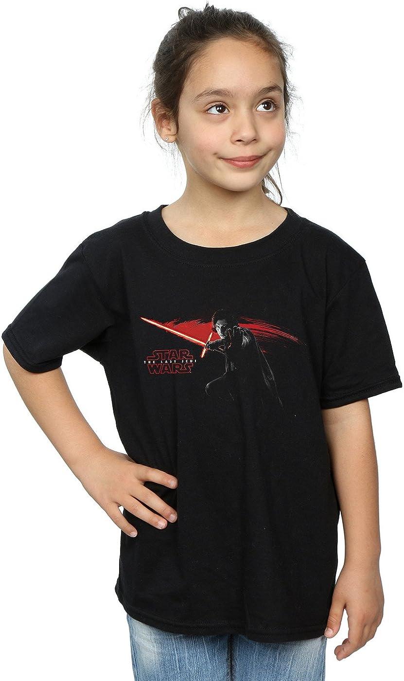 STAR WARS Girls The Last Jedi Kylo Ren Hand T-Shirt 5-6 Years Black