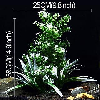 ZHU Árbol Artificial Planta Hierba Figuras Miniaturas Acuario Tanque de Peces Paisaje, Tamaño Grande: