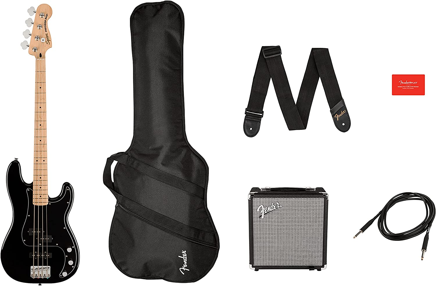 Fender 4 Limited time sale String bass-guitar-packages Black Right Max 86% OFF 0372981006
