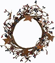 """CWI Gifts 4-8"""" Country Mix Pip Ring with Rusty Stars"""