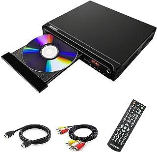 DVD-speler, DVD-speler voor tv, DVD/CD/MP3-speler, HD1080, gratis voor alle regio's met HDMI- en AV-uitgang en USB-ingang